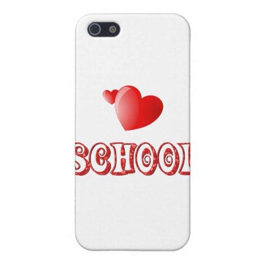 Amor para la escuela iPhone 5 protector