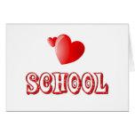 Amor para la escuela tarjetón