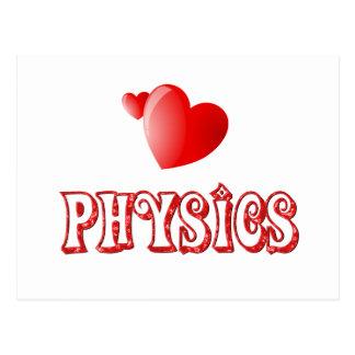 Amor para la física tarjeta postal