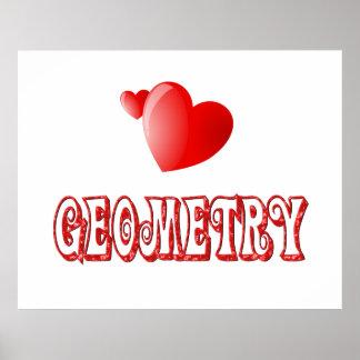 Amor para la geometría posters