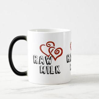 Amor para la leche cruda taza