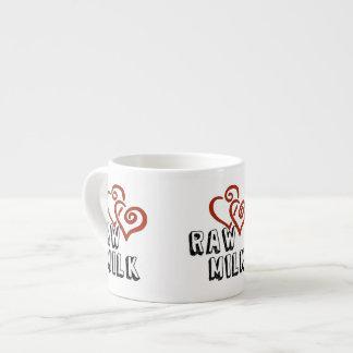 Amor para la leche cruda taza espresso