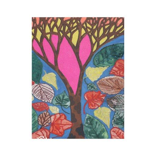 Amor para la lona de los árboles impresión en lona estirada