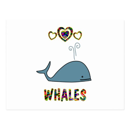 Amor para las ballenas tarjeta postal