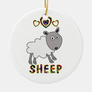 Amor para las ovejas ornaments para arbol de navidad