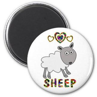 Amor para las ovejas imán redondo 5 cm