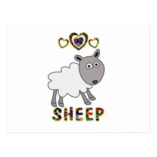 Amor para las ovejas postal