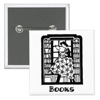 Amor para leer los libros pin cuadrada 5 cm