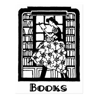 Amor para leer los libros postal