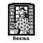 Amor para leer los libros tarjetas postales