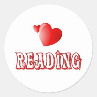 Amor para leer etiquetas redondas
