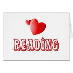 Amor para leer tarjeta