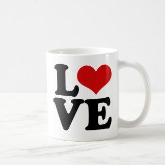 Amor para los amantes y el diseño del día de San Taza Clásica