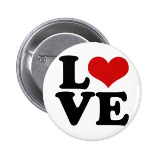 Amor para los amantes y la novedad del diseño del  pin redondo de 2 pulgadas