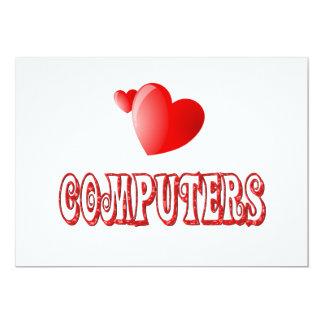 """Amor para los ordenadores invitación 5"""" x 7"""""""