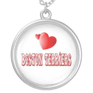 Amor para los terrieres de Boston Colgante Redondo