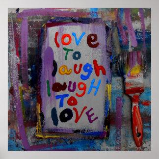 amor para reír risa para amar póster