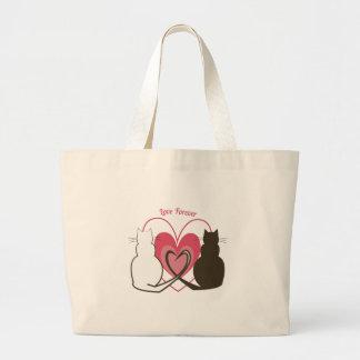 Amor para siempre bolsas lienzo