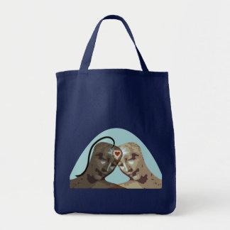 Amor para siempre bolsa tela para la compra