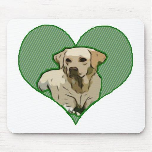 Amor para un Labrador Tapetes De Raton