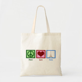 Amor París de la paz Bolsa Tela Barata