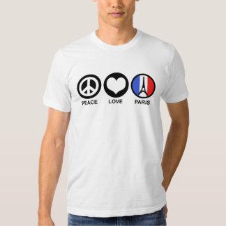 Amor París de la paz Playera