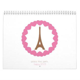 amor París del ojo. 2010. Calendario