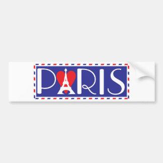 Amor París Pegatina Para Auto