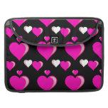 Amor Pat del el día de San Valentín de los corazon Funda Para Macbook Pro