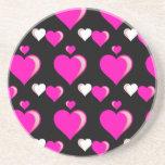 Amor Pat del el día de San Valentín de los corazon Posavasos Manualidades