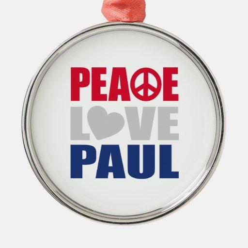 Amor Paul de la paz Ornaments Para Arbol De Navidad