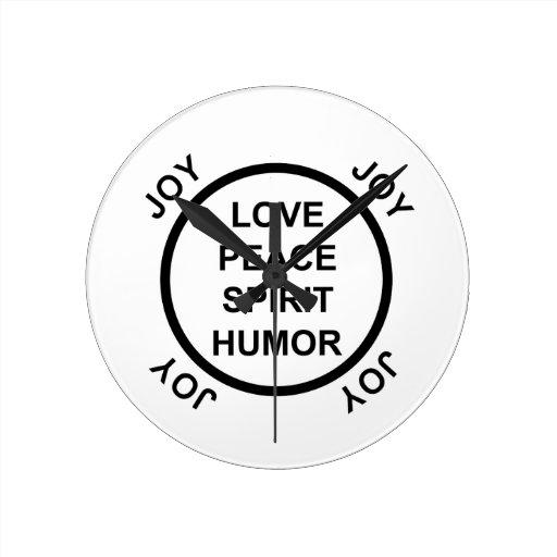 Amor, paz, alcohol, humor, alegría - reloj de pare