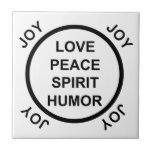 Amor, paz, alcohol, humor, alegría - teja
