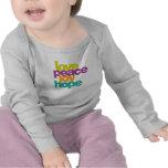 amor, paz, alegría, esperanza camisetas