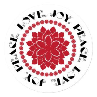 """Amor, paz, alegría III Invitación 5.25"""" X 5.25"""""""