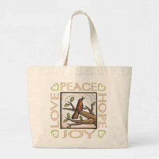 Amor, paz, esperanza, alegría bolsa