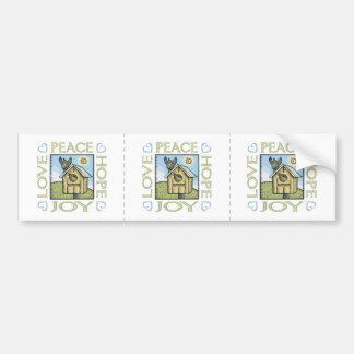 Amor, paz, esperanza, alegría etiqueta de parachoque