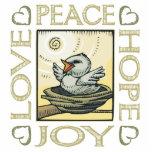 Amor, paz, esperanza, alegría escultura fotografica
