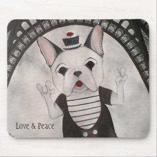 Amor, paz y París Mousepad