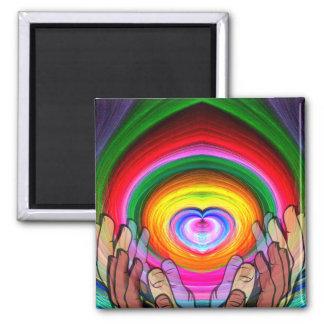Amor, paz y Unity_ Imán De Frigorifico