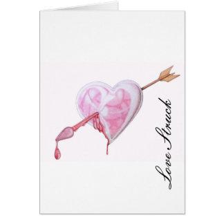 Amor pegado tarjeta de felicitación