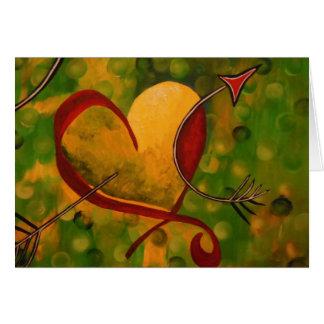 Amor pegado tarjeta pequeña
