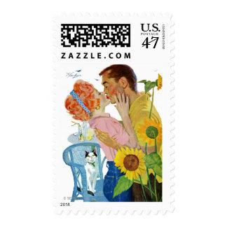 Amor-Pegado Timbres Postales