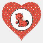 Amor. Pegatinas del regalo del el día de San Pegatina En Forma De Corazón