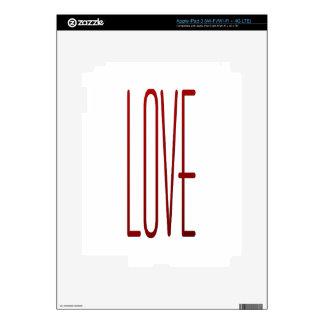 amor pegatinas skins para iPad 3