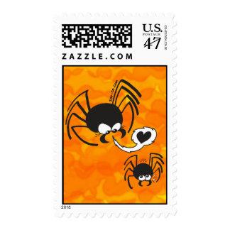Amor peligroso de la araña sellos postales