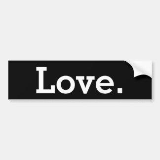 Amor, período pegatina para auto