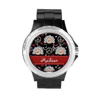 Amor personalizado Beethoven de la paz Relojes