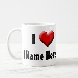 Amor personalizado de I… El día de San Valentín Taza Clásica