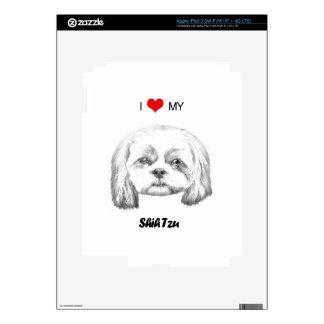 Amor personalizado de I mi bosquejo del lápiz de iPad 3 Skins